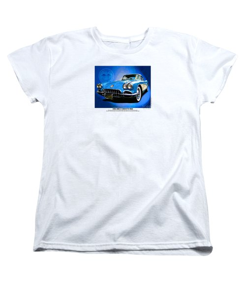 Women's T-Shirt (Standard Cut) featuring the photograph Cool Corvette by Kenneth De Tore