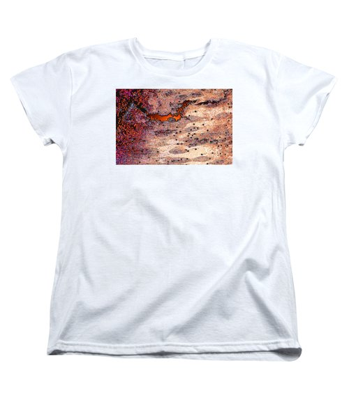 Women's T-Shirt (Standard Cut) featuring the photograph Copper Landscape by Stephanie Grant