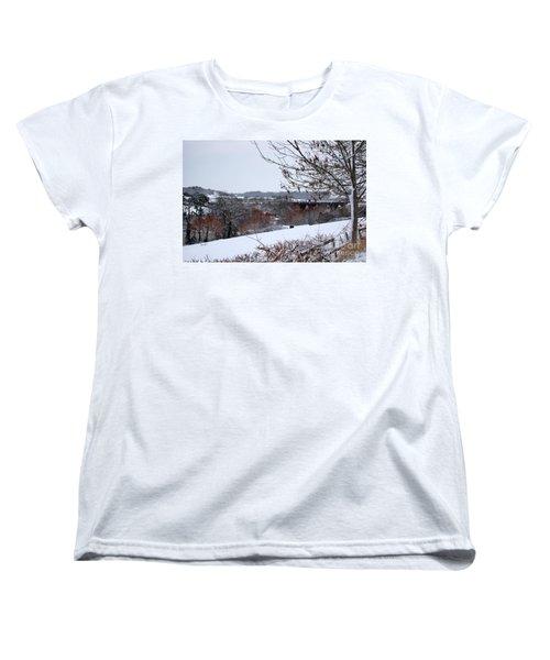 Copper Tones Women's T-Shirt (Standard Cut) by Linda Prewer
