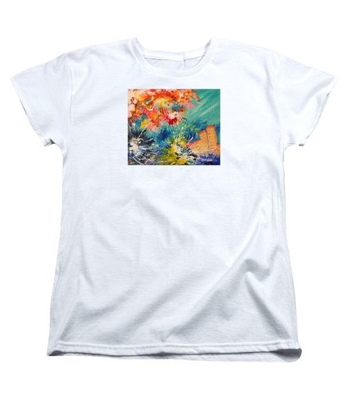 Women's T-Shirt (Standard Cut) featuring the painting Coral Madness by Lyn Olsen