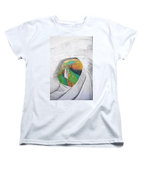 Women's T-Shirt (Standard Cut) featuring the painting Cornered Stones by A  Robert Malcom