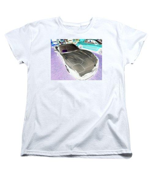 Women's T-Shirt (Standard Cut) featuring the photograph Corvette 2003 50th Anniv. Edition by John Schneider