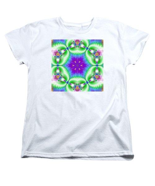 Cosmic Spiral Kaleidoscope 10 Women's T-Shirt (Standard Cut) by Derek Gedney
