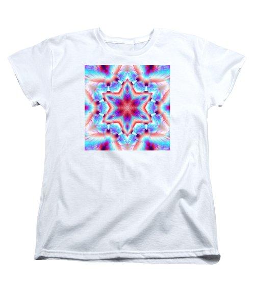 Cosmic Spiral Kaleidoscope 45 Women's T-Shirt (Standard Cut) by Derek Gedney