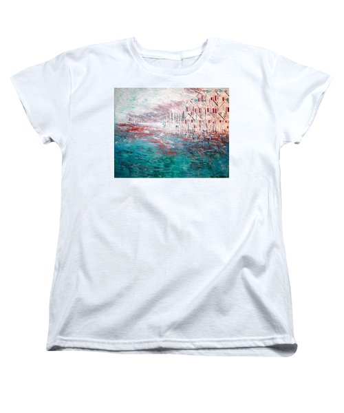 Cottages On The Bay  Women's T-Shirt (Standard Cut) by George Riney