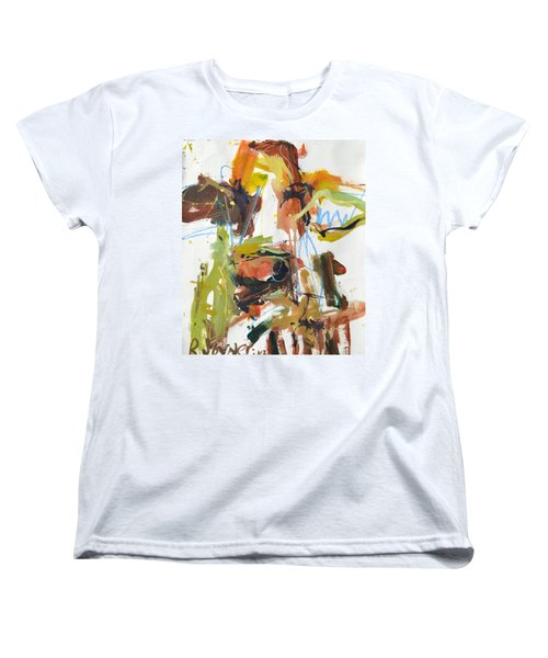 Cow With Green And Brown Women's T-Shirt (Standard Cut) by Robert Joyner