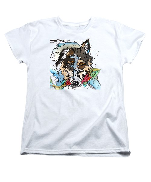 Women's T-Shirt (Standard Cut) featuring the painting Coyote  by Nicole Gaitan