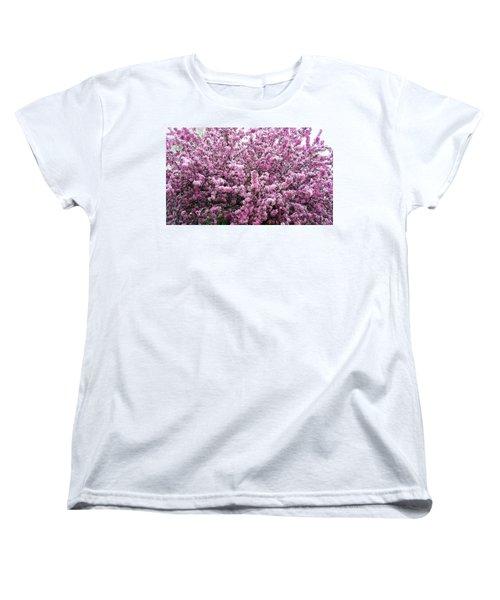 Crab Apple Tree Women's T-Shirt (Standard Cut) by Aimee L Maher Photography and Art Visit ALMGallerydotcom