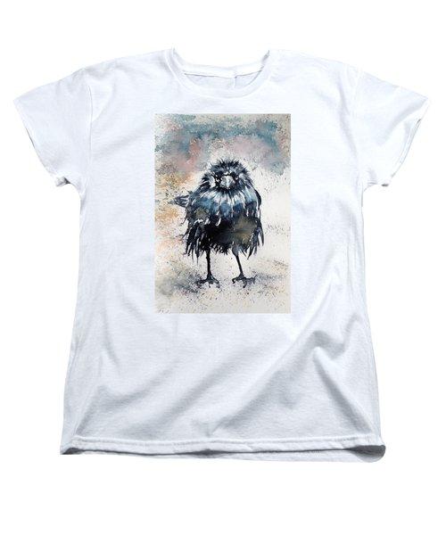Crow After Rain Women's T-Shirt (Standard Cut) by Kovacs Anna Brigitta