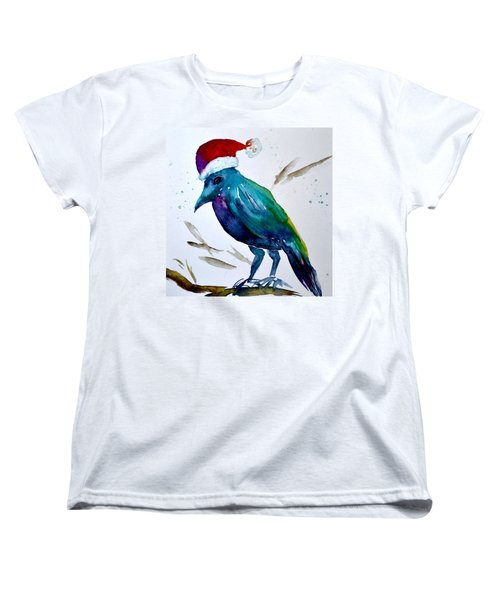 Women's T-Shirt (Standard Cut) featuring the painting Crow Ho Ho by Beverley Harper Tinsley