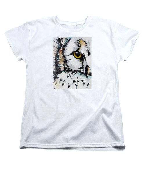 Women's T-Shirt (Standard Cut) featuring the painting Crown by Nicole Gaitan
