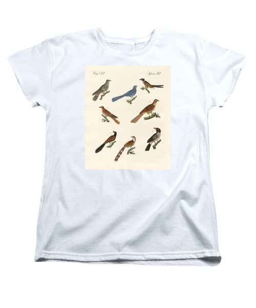 Cuckoos From Various Countries Women's T-Shirt (Standard Cut) by Splendid Art Prints