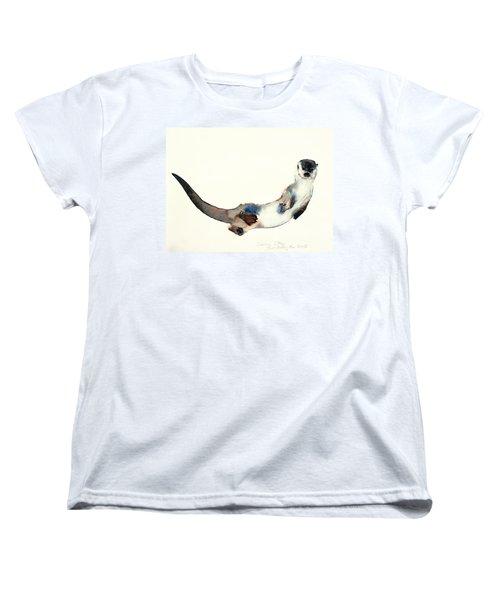 Curious Otter Women's T-Shirt (Standard Cut) by Mark Adlington