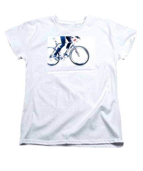 Cycling Women's T-Shirt (Standard Cut) by Theresa Tahara