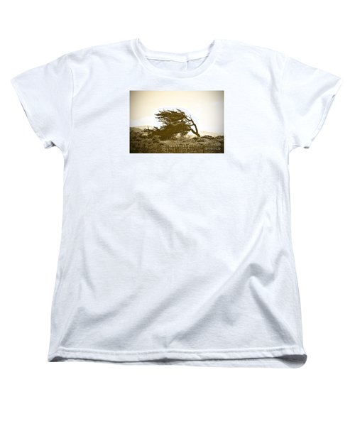 Cypress Trees In Monterey Women's T-Shirt (Standard Cut) by Artist and Photographer Laura Wrede