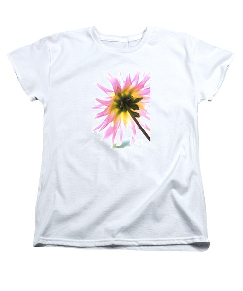 Women's T-Shirt (Standard Cut) featuring the photograph Dahlia Flower by Joy Watson
