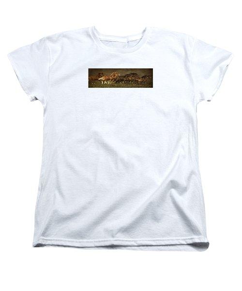 Women's T-Shirt (Standard Cut) featuring the digital art Daily Double by Priscilla Burgers