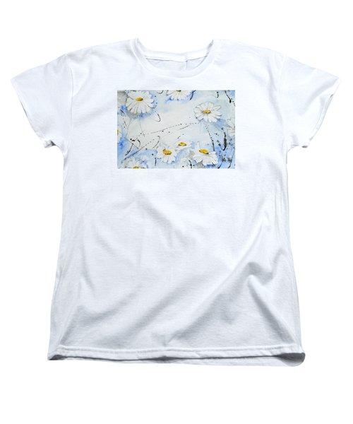 Daisies - Flower Women's T-Shirt (Standard Cut) by Ismeta Gruenwald
