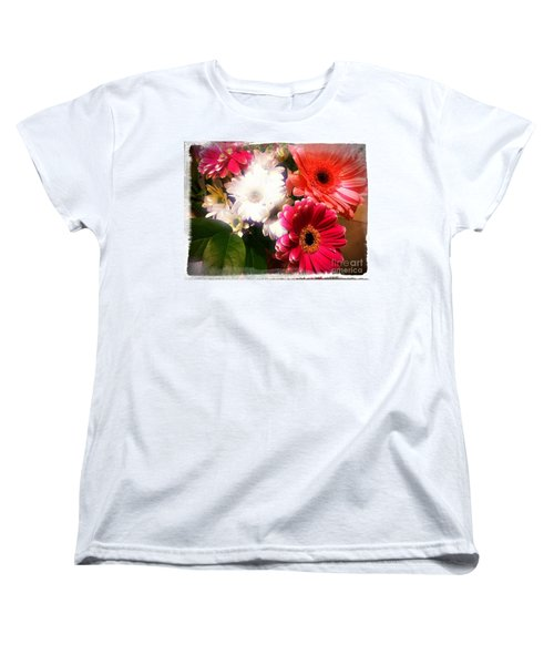 Daisy January Women's T-Shirt (Standard Cut) by Meghan at FireBonnet Art