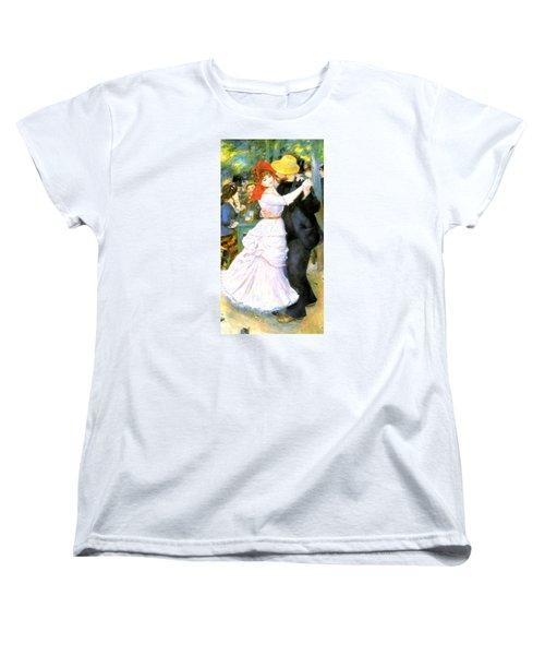 Dance At Bougival Women's T-Shirt (Standard Cut) by Pierre Auguste Renoir