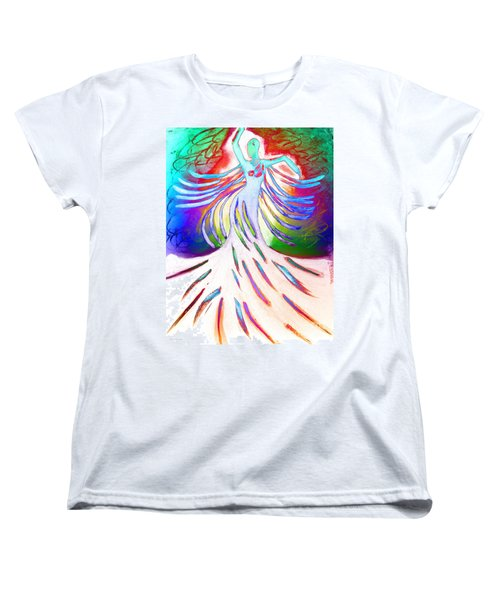 Women's T-Shirt (Standard Cut) featuring the painting Dancer 4 by Anita Lewis