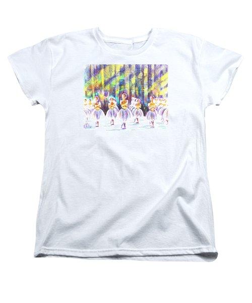 Dancers In The Forest Women's T-Shirt (Standard Cut) by Kip DeVore
