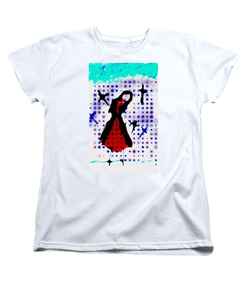 Women's T-Shirt (Standard Cut) featuring the photograph Dancing With The Birds by Jessica Shelton
