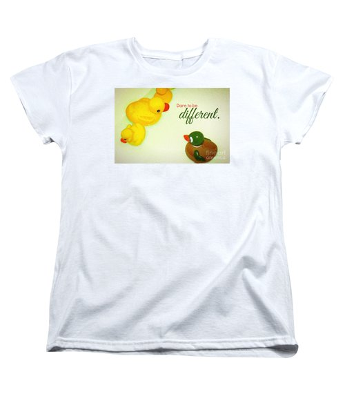 Women's T-Shirt (Standard Cut) featuring the digital art Dare To Be Different by Valerie Reeves