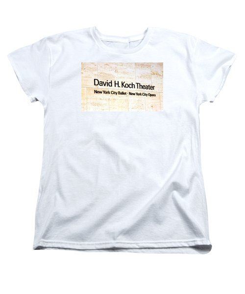 David H. Koch Theater Women's T-Shirt (Standard Cut) by Valentino Visentini