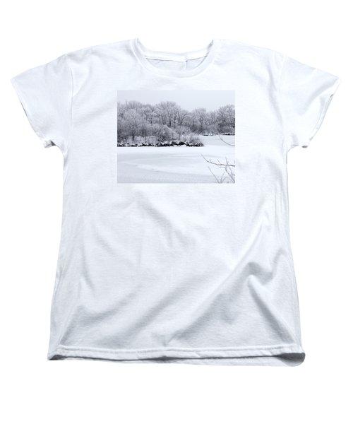 December Lake Women's T-Shirt (Standard Cut) by Debbie Hart