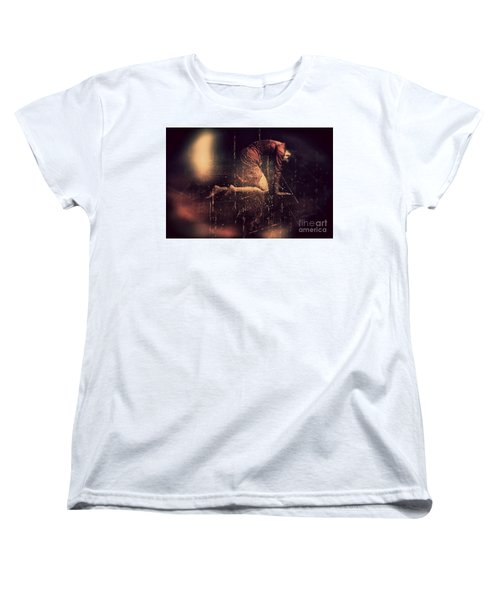 Defeated Women's T-Shirt (Standard Cut) by Jessica Shelton