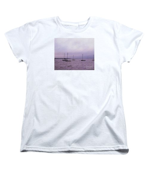 Women's T-Shirt (Standard Cut) featuring the photograph Delaware Harbor by David Jackson