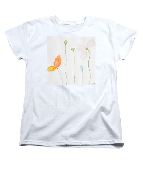Women's T-Shirt (Standard Cut) featuring the painting Delicate  by Reina Resto
