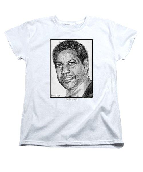 Denzel Washington In 2009 Women's T-Shirt (Standard Cut) by J McCombie