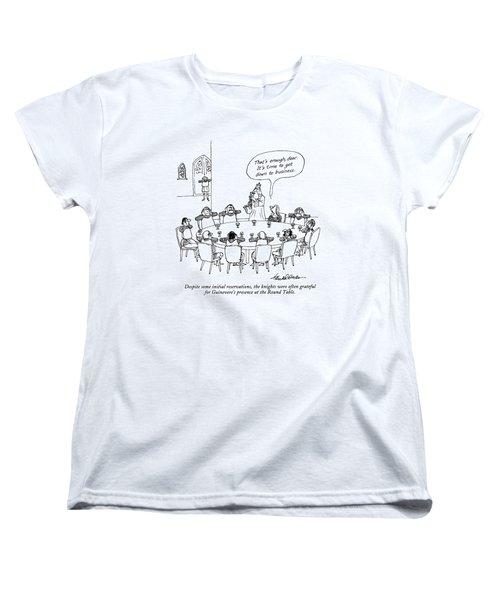 Despite Some Initial Reservations Women's T-Shirt (Standard Cut) by J.B. Handelsman