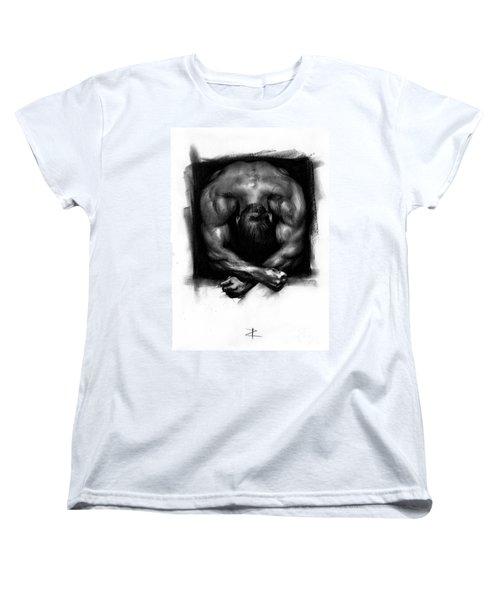 Women's T-Shirt (Standard Cut) featuring the drawing Despondent by Paul Davenport