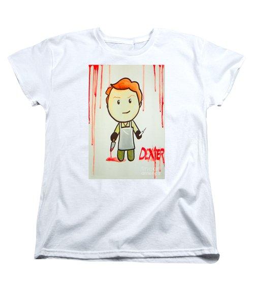 Women's T-Shirt (Standard Cut) featuring the painting Dexter by Marisela Mungia