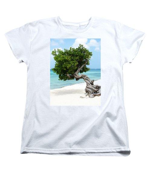 Divi Divi Tree In Aruba Women's T-Shirt (Standard Cut) by DejaVu Designs