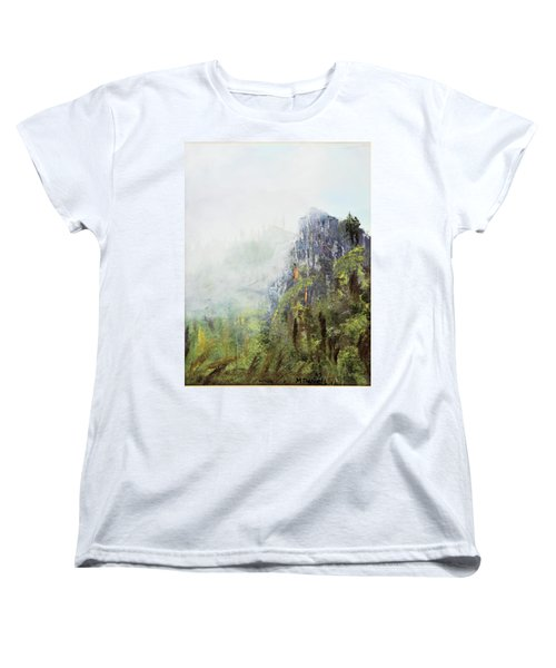 Women's T-Shirt (Standard Cut) featuring the painting Dixville Notch Nh by Michael Daniels