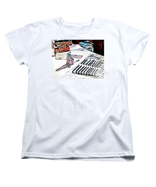 Women's T-Shirt (Standard Cut) featuring the photograph Doctor - Medical Instruments by Susan Savad