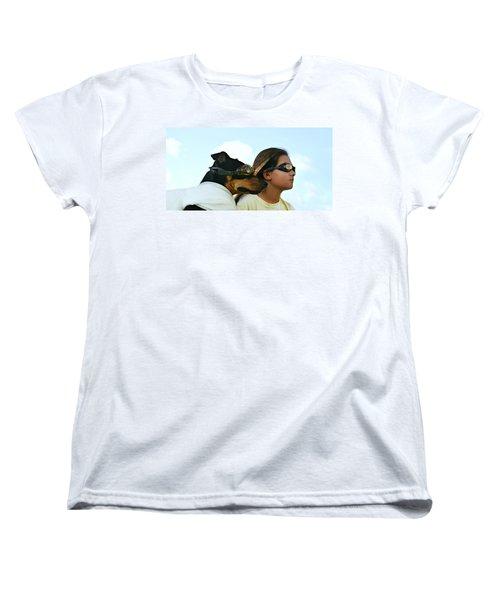 Dog Is My Co-pilot Women's T-Shirt (Standard Cut) by Laura Fasulo