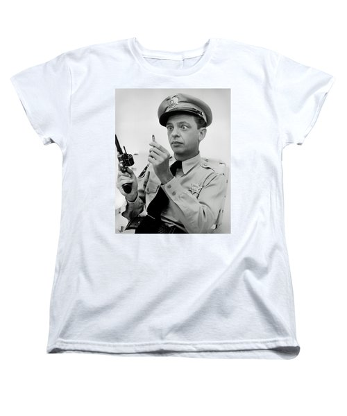 Barney Fife - Don Knotts Women's T-Shirt (Standard Cut) by Mountain Dreams