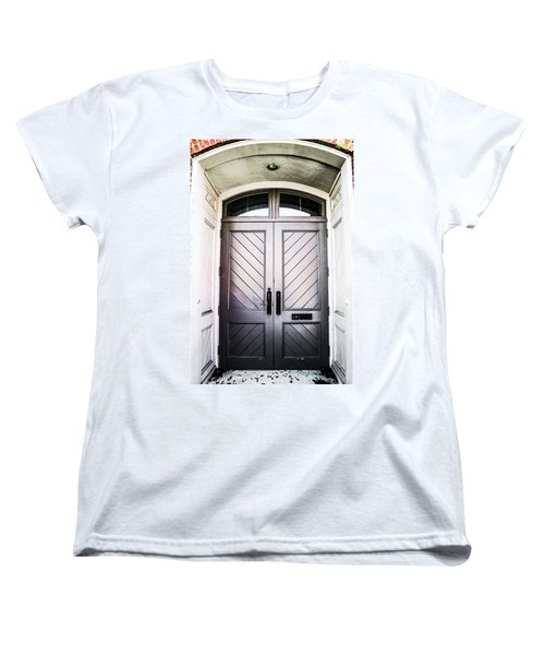 Doorway At Morris Avenue Women's T-Shirt (Standard Cut) by Shelby  Young