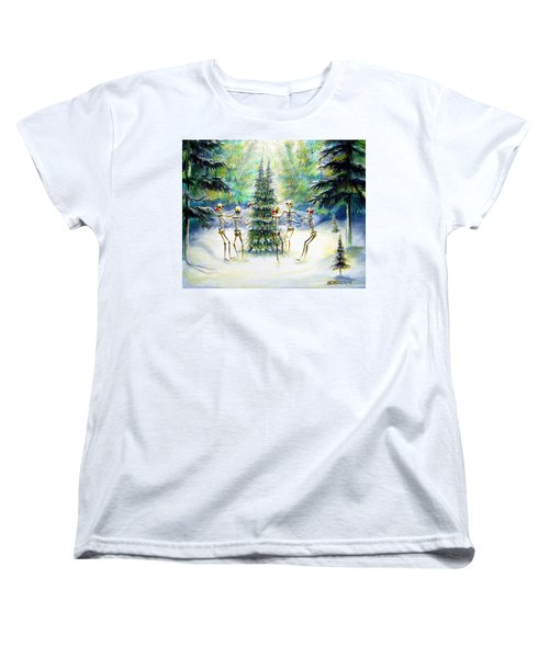 Women's T-Shirt (Standard Cut) featuring the painting Dos Arbolitos by Heather Calderon