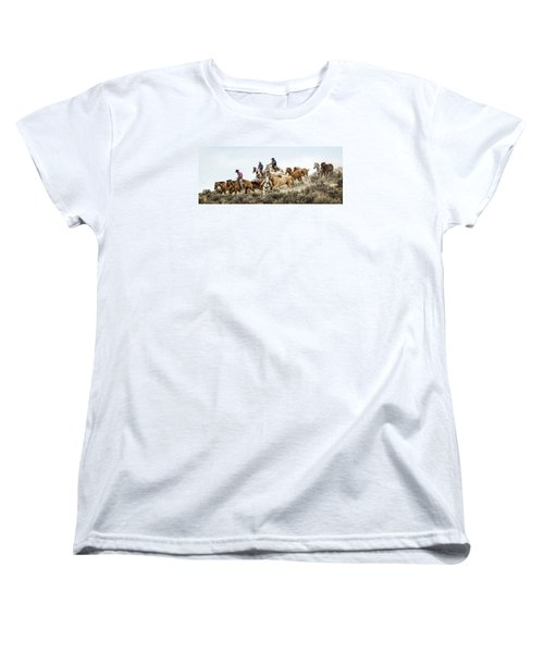 Women's T-Shirt (Standard Cut) featuring the photograph Down The Hill by Joan Davis