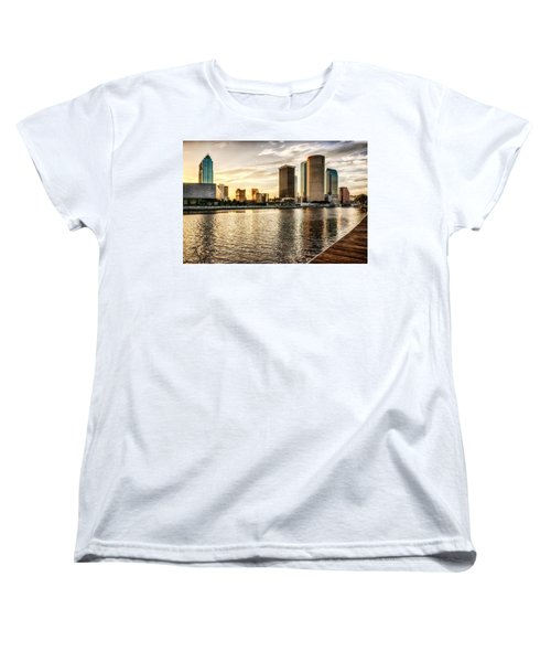 Downtown Tampa At Sunrise Women's T-Shirt (Standard Cut) by Michael White