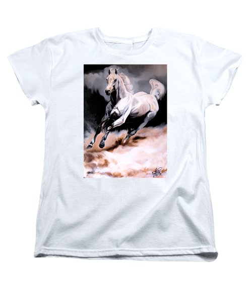 Dream Horse Series 20 - White Lighting Women's T-Shirt (Standard Cut) by Cheryl Poland