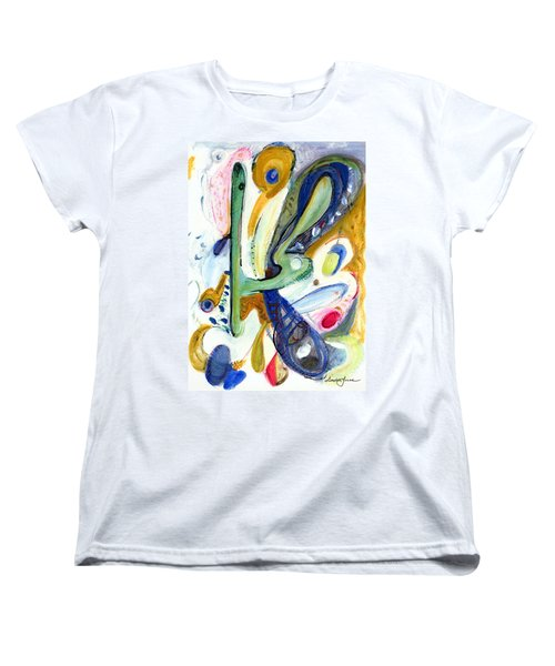 Women's T-Shirt (Standard Cut) featuring the painting Dreams by Stephen Lucas