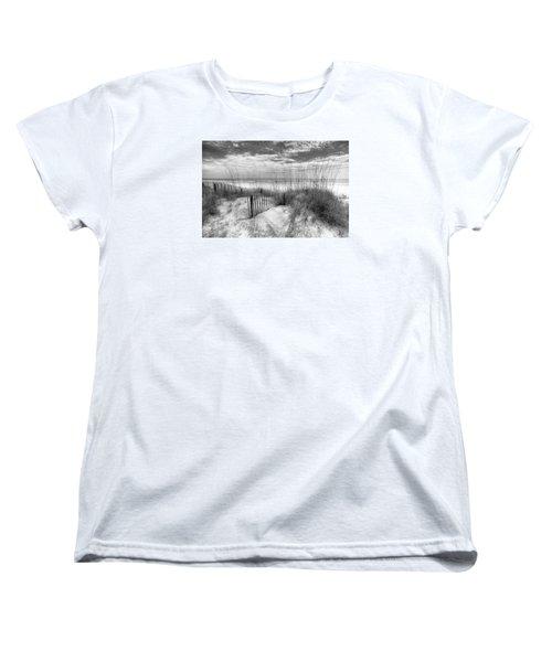 Dune Fences Women's T-Shirt (Standard Cut) by Debra and Dave Vanderlaan