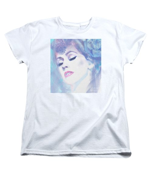 Dusty Blues Women's T-Shirt (Standard Cut) by Kim Prowse